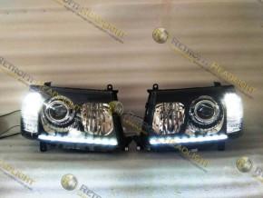 BiLed светодиодные фары Toyota Land Cruiser 100 06