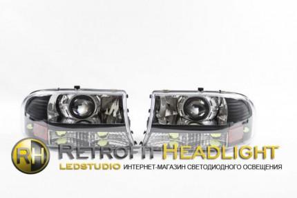 Bi Led светодиодные фары Dodge Durango 97-