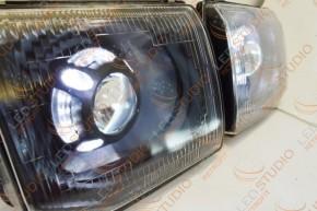 Bi Led светодиодные фары Mitsubishi Pajero 2 97-99