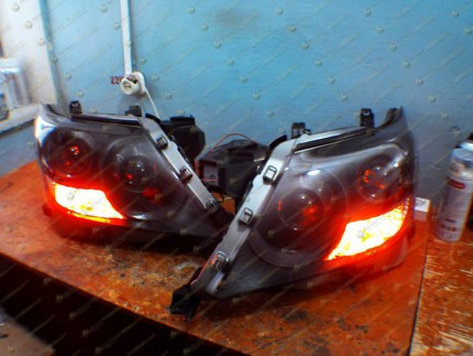 Bi Led светодиодные фары Lexus LX 570 08-12