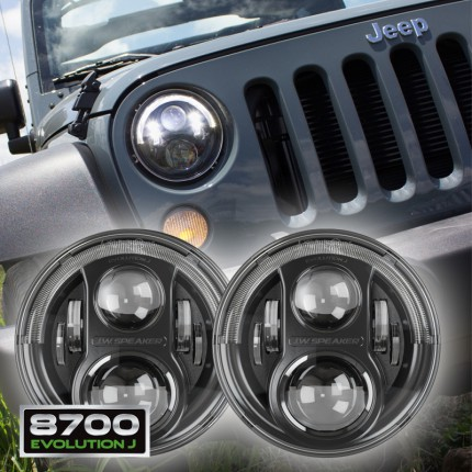 JW Speaker 8700 Evo J LED Headlights