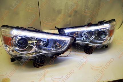 Bi Led светодиодные фары Mitsubishi ASX 10-