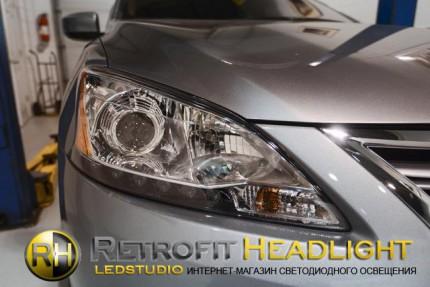 Bi Led светодиодные фары Nissan Sentra 2013 -