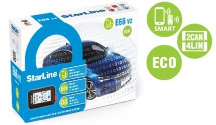 Автосигнализация StarLine E66 v2 BT 2CAN-4LIN ECO
